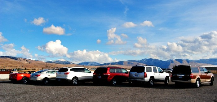 Variety of rental cars available from Hertz in Missoula.