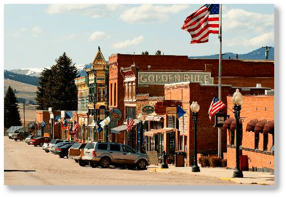 Main Street in Philipsburg Montana